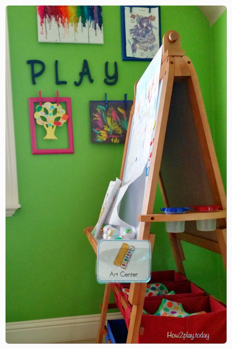 Art Center for playroom or preschool class
