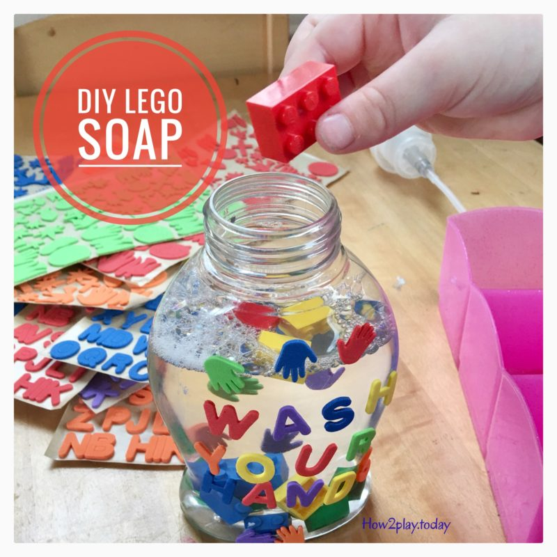 DIY Lego Soap @how2playtoday
