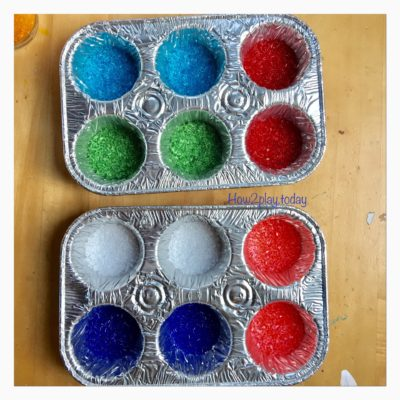 DIY Sun Catchers or you can even make these into ornaments.  Using a muffin tin, pour mini crystals to fill the bottom.  Melt in oven at 400 degrees for 15 min.  Let cool and pop them out.  Drill a hole to hang them together or individually.