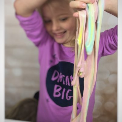 Mixing all colors together creates a wonderful Rainbow of Slime.  Check out www.How2play.today for more creative ideas.