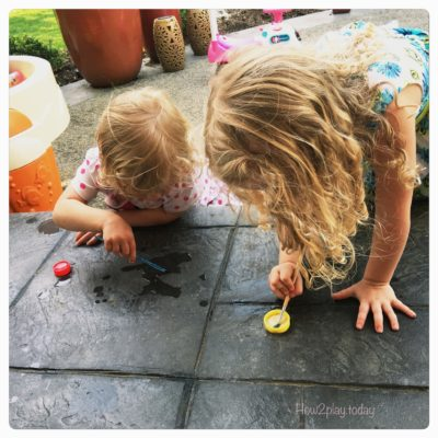 Art Hacks for Toddlers:  paint with water