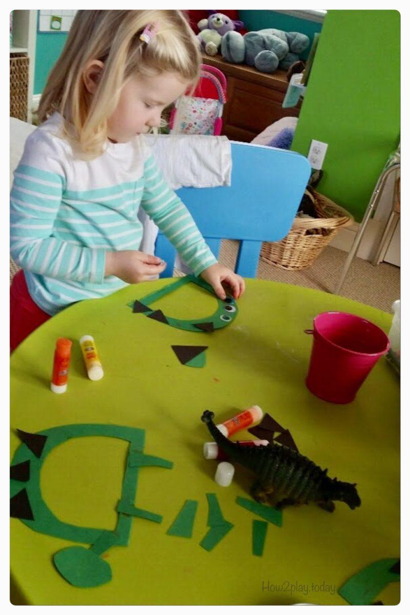D is for Dinosaur. Dinosaur theme play.