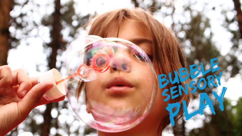 Bubbles Sensory Play unit from How2Play.Today. Perfect for summer time!