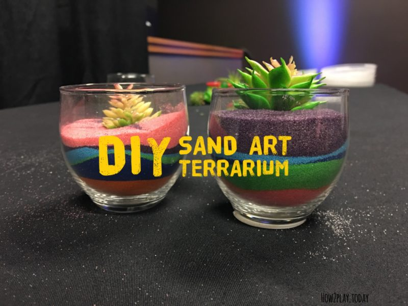 DIY Sand Art Terrarium: Make this modern and vivid terrariums with colored sand. Perfect simple craft for all ages
