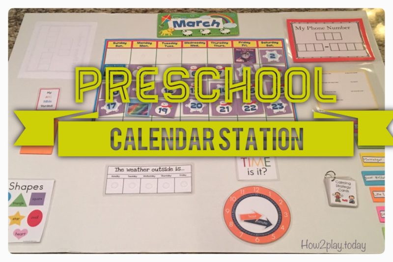 Preschool calendar is great for circle time, homeschooling, and can also be used for older kids as a homework station. This DIY calendar is movable and lightweight so you can take it all around your home or classroom. It could also be attached to a wall using velcro.
