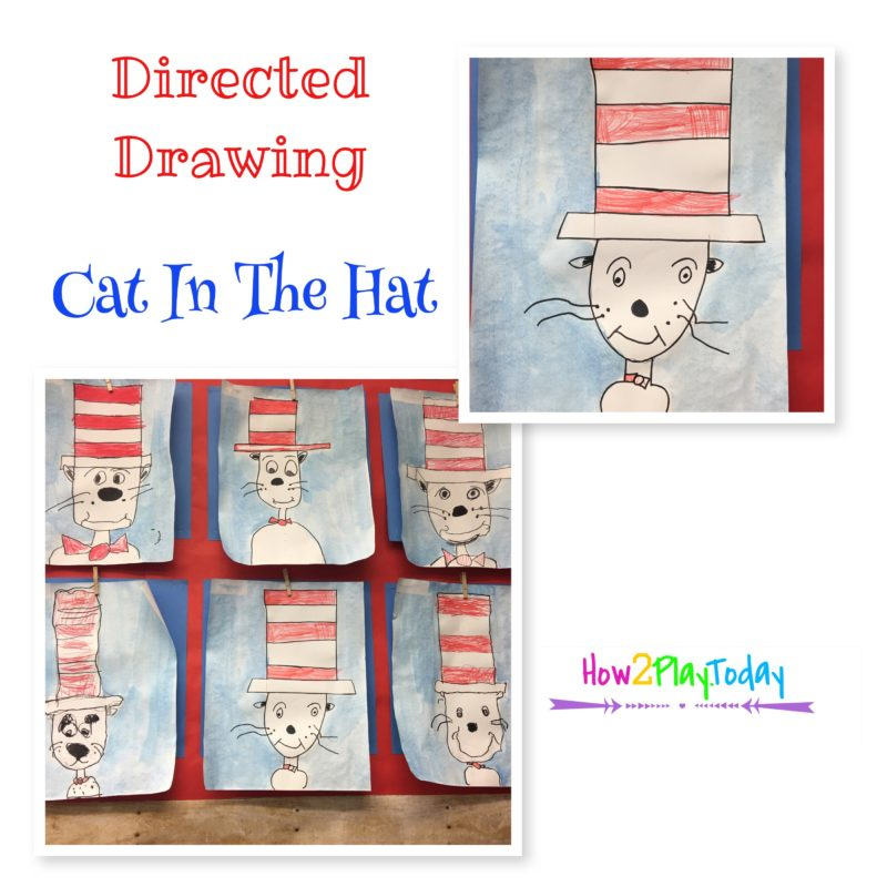 Guided Drawing art for Cat in the Hat. Dr. Seuss week allows for so many wonderful projects.
