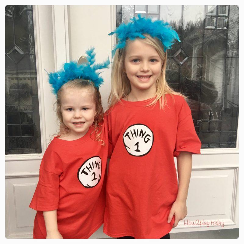 Thing 1 & Thing 2: diy costume. Dr. Seuss Birthday and Read Across America.