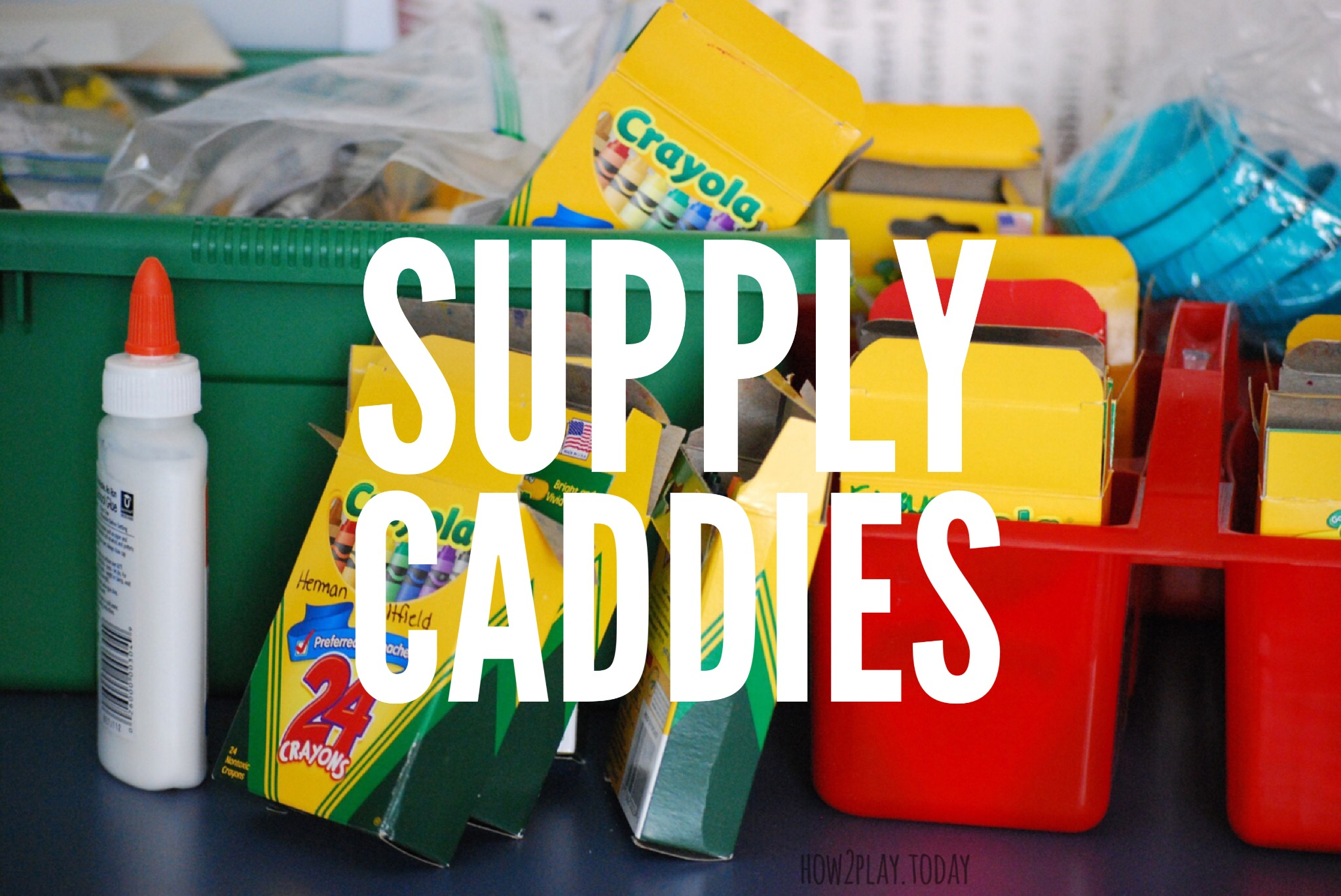 How to organize your kids craft supplies. Art and Crafts can be so much fun for you and your little ones but the supplies add up. Here are a few ideas of how you can organize the supplies and clean up your space.