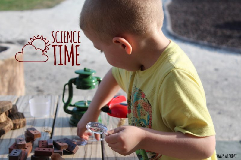 Science Time: exploring is so much fun and such a necessity for little ones. Encourage them to learn about what's around them, ask open-ended questions, and explore together.