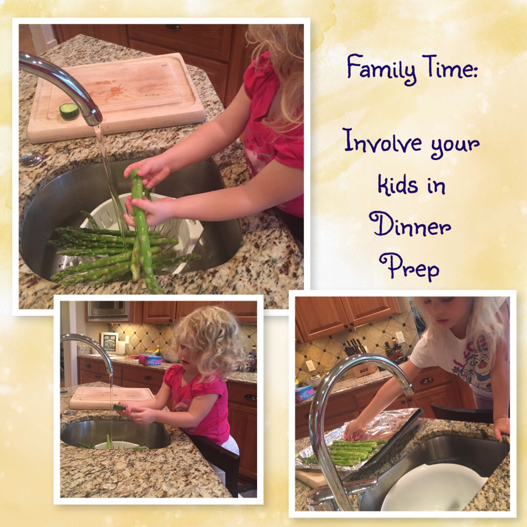 Family Time is important and getting your children involved in helping prep dinner, is a great way to spend the time together and teach them responsibilities
