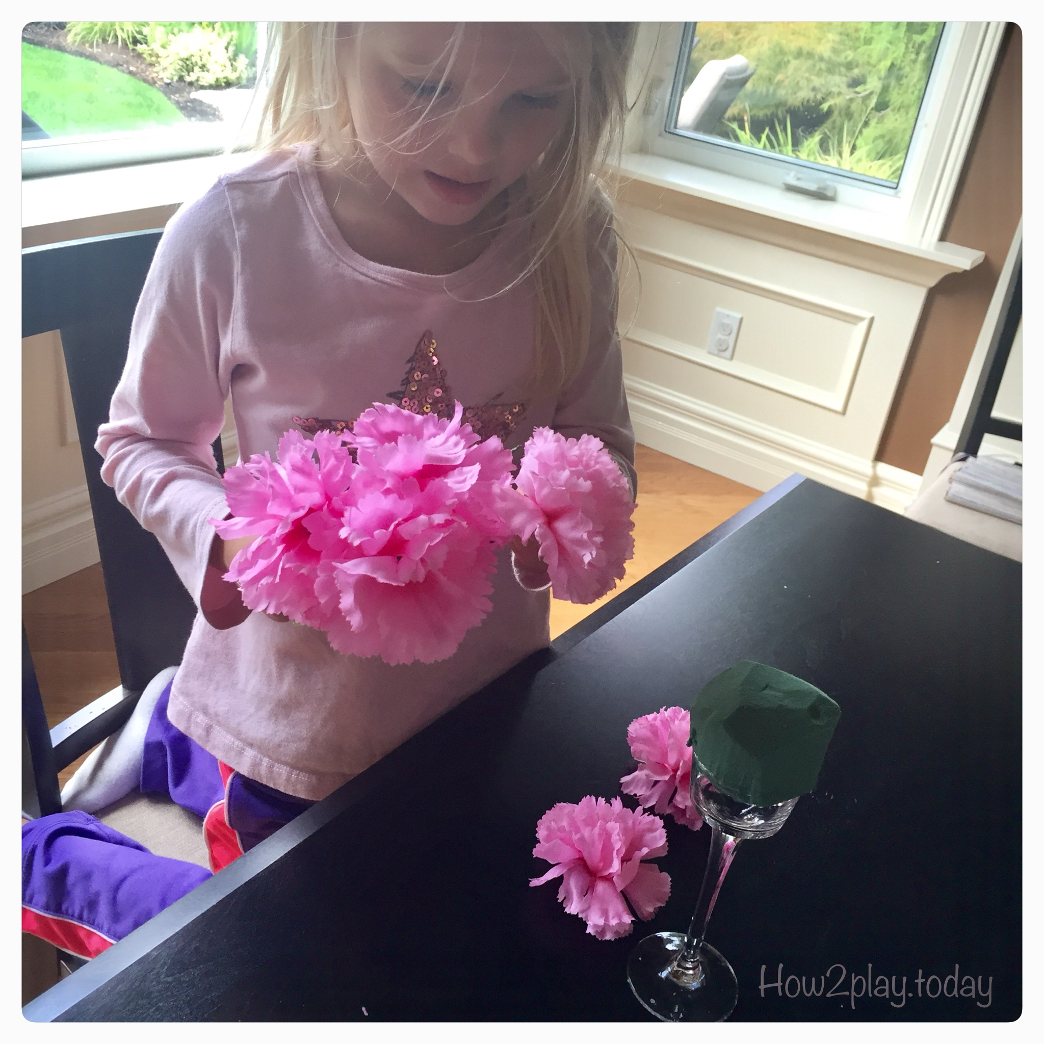DIY flower arrangements for your home, office or MOPS group.
