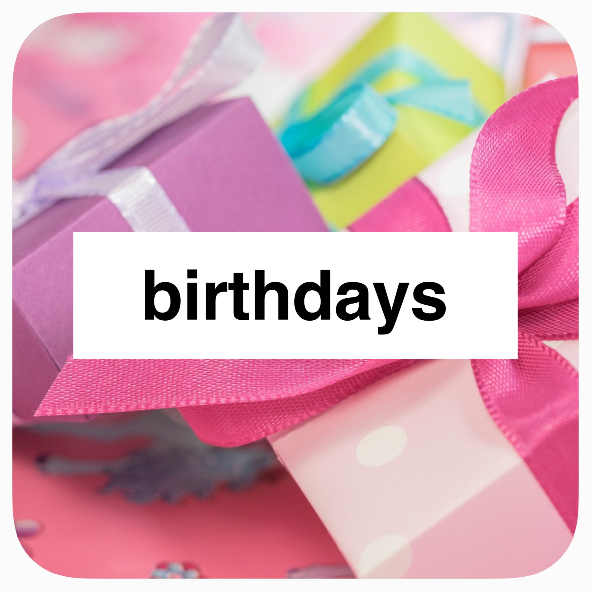 Holiday Play: Birthdays