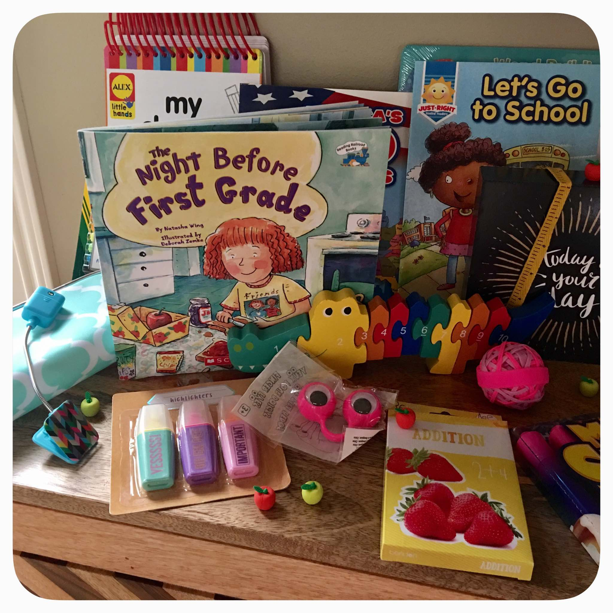 Back to School: First Grade school supplies