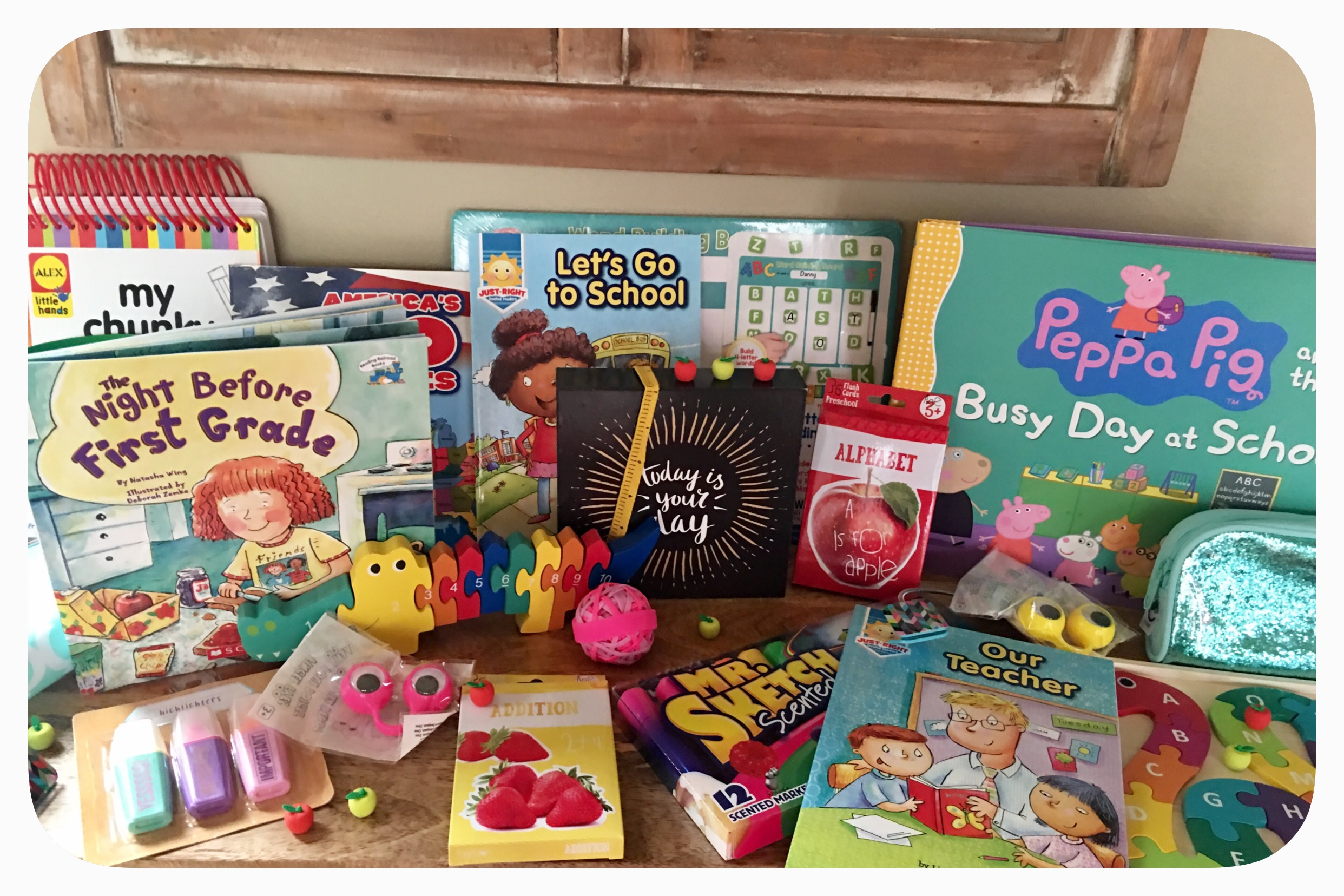 Back to School: Preschool and First grade school supplies