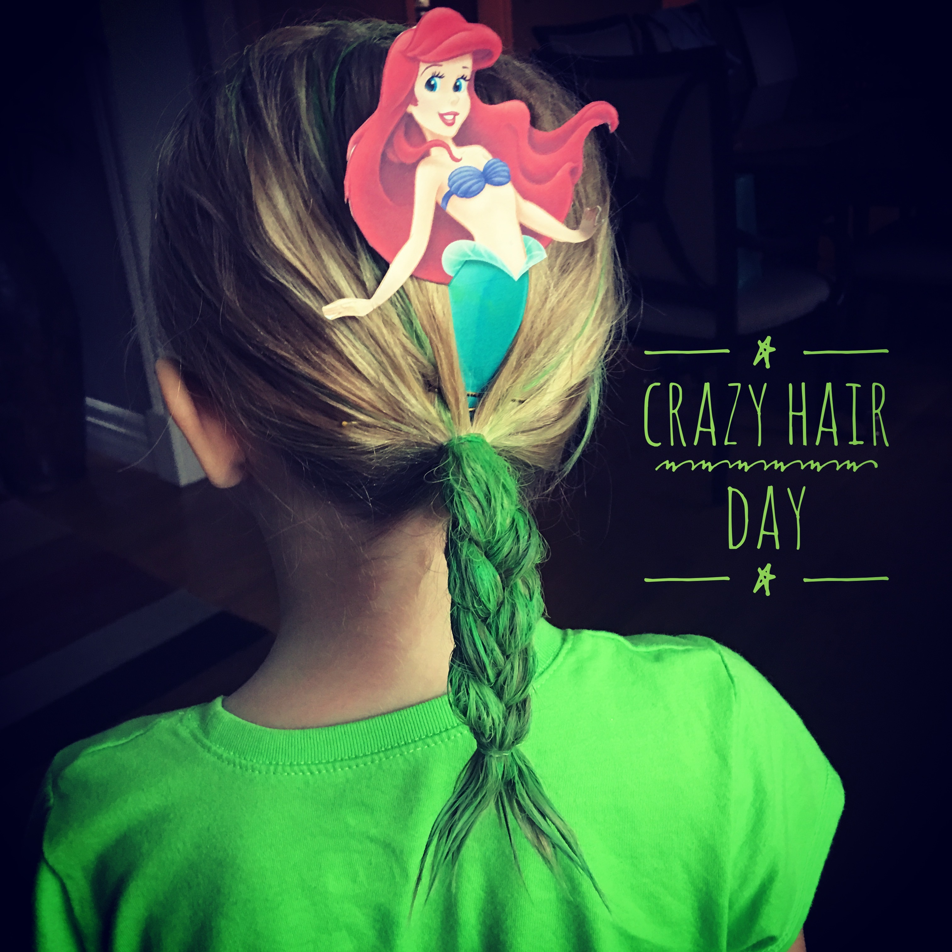 Crazy Hair Day: back to school means lots of spirit days. Here is a simple way to create crazy hair and doesn't take too long.