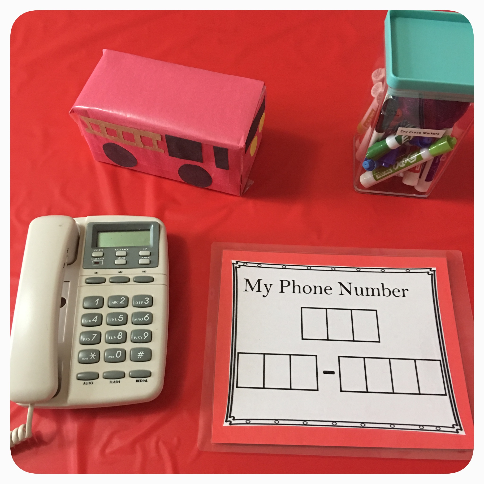 Do your children know your home or cell phone number? Many don't! • Laminated handouts to use with dry erase markers can make it fun for them and can be used over and over again.