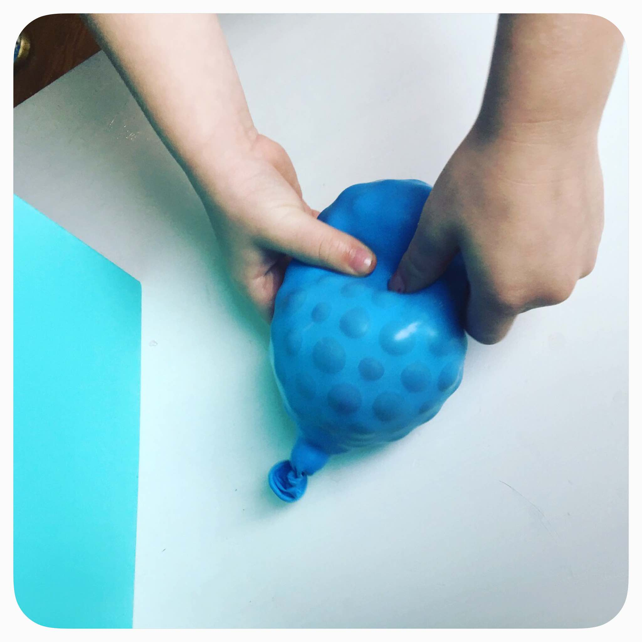 We have had our sensory tub of water beads out for days and wanted to try something new - bring on the balloons! Simple and fun activity your children can do. DIY Stress Ball using water beads / Orbeez