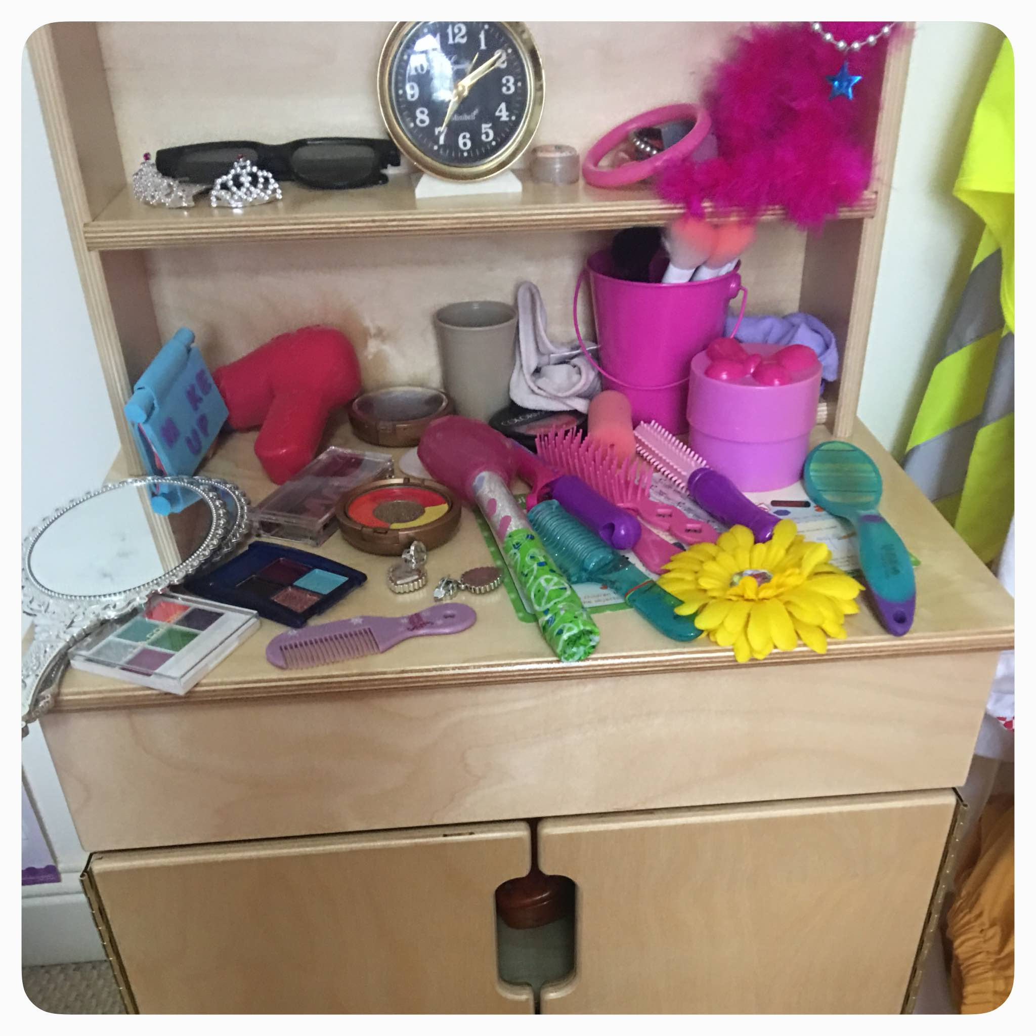 Creating a beauty salon for the dramatic play center