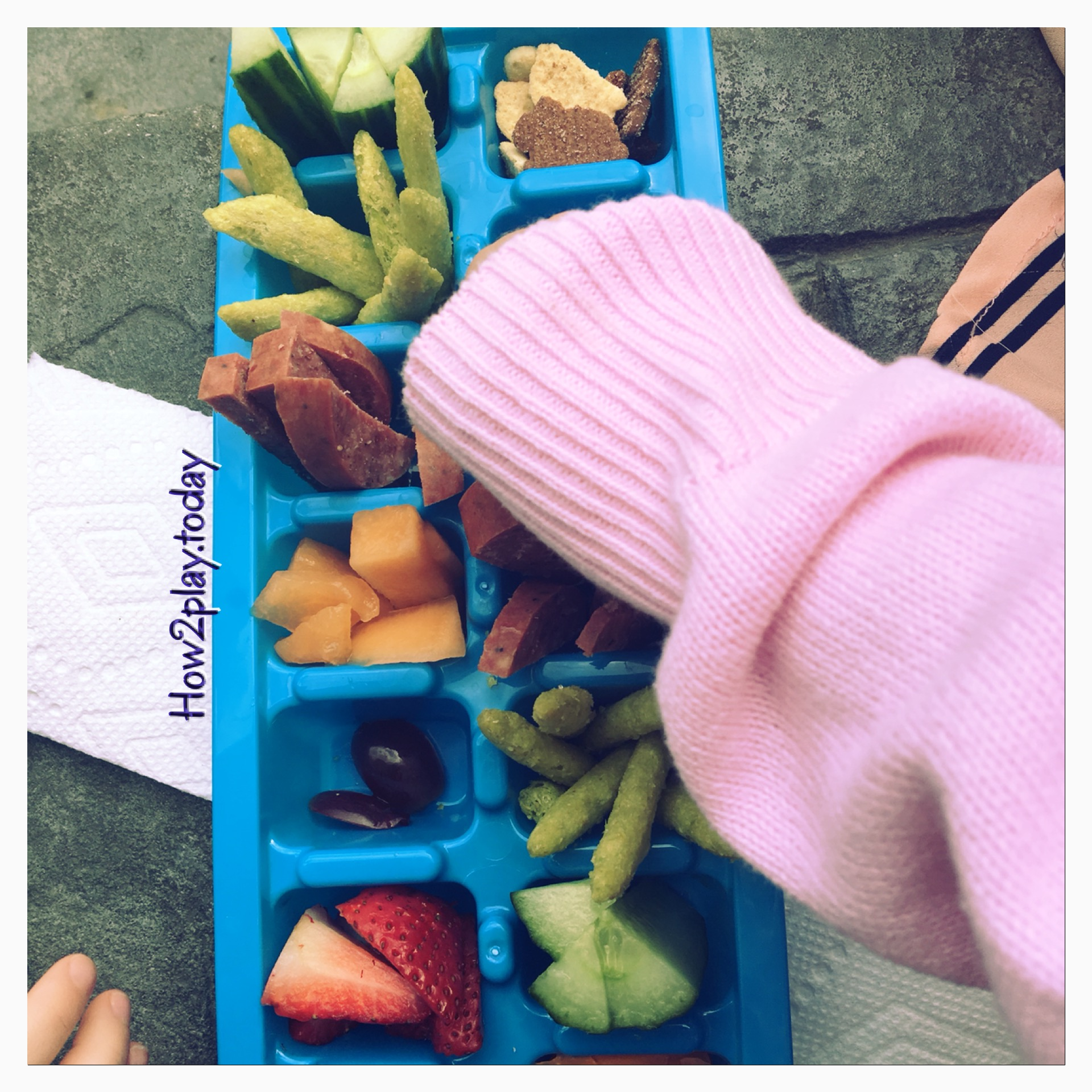 Change out their plates for ice cube trays and watch them eat up some great finger foods