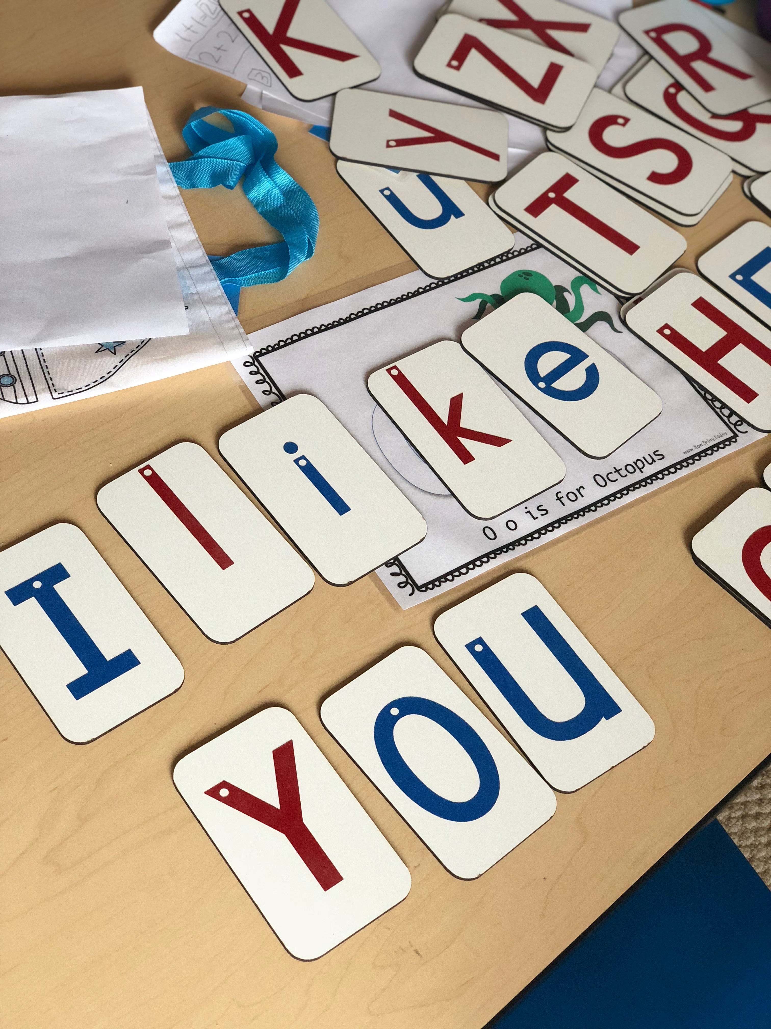 These Montessori sandpaper letters are amazing! They're made to order, high quality, and my children absolutely love playing and spelling with them. Great for letter recognition, sight words, etc.