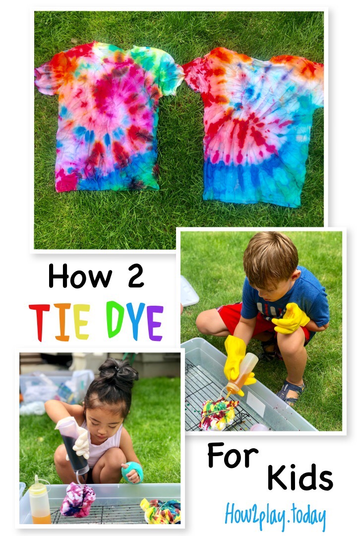 Simple technique for tie-dye projects with kids.