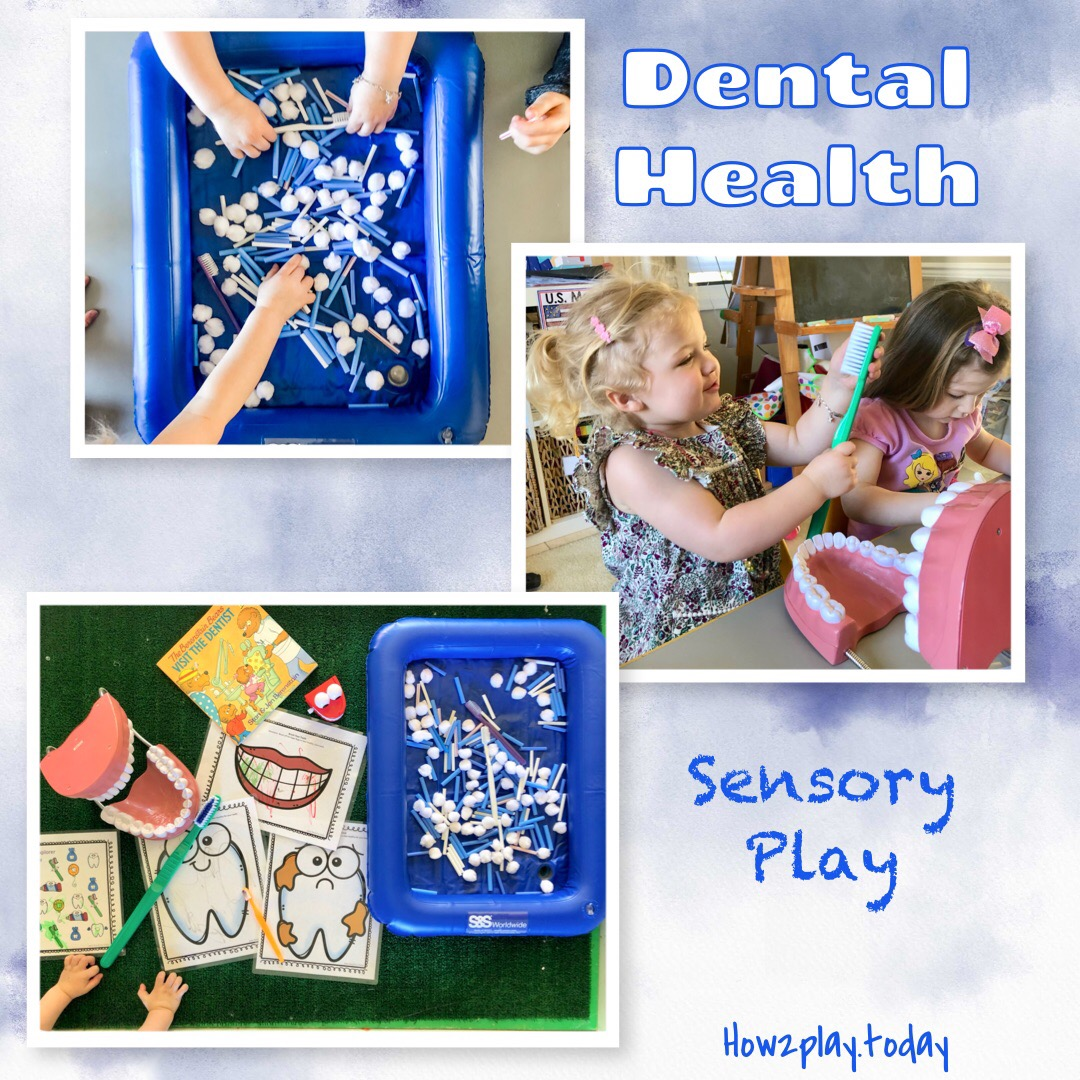 🦷 Dental Health Month 🦷Classroom is a great place to teach kids about dental hygiene. This sensory bin was a huge hit! We filled it with cut up straws, cotton balls, and toothbrushes!Sensory play give children a safe environment to learn and explore the world around them.