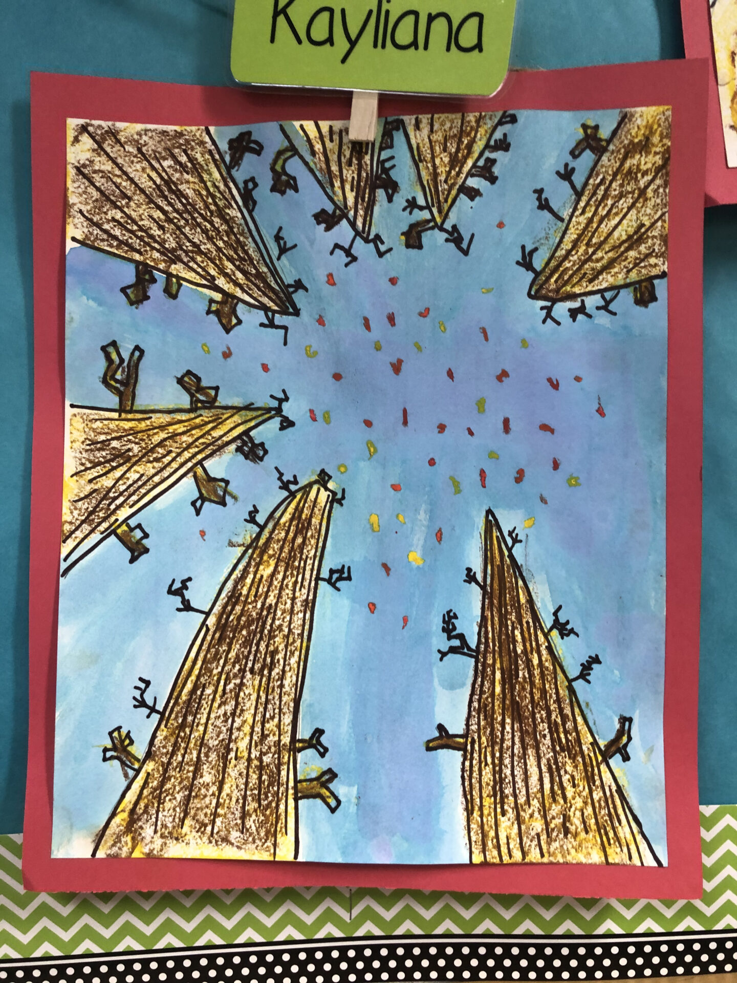 Perspective Drawing for Grade 3 - Creating ways to explore Autumn while learning about Perspective Drawing.