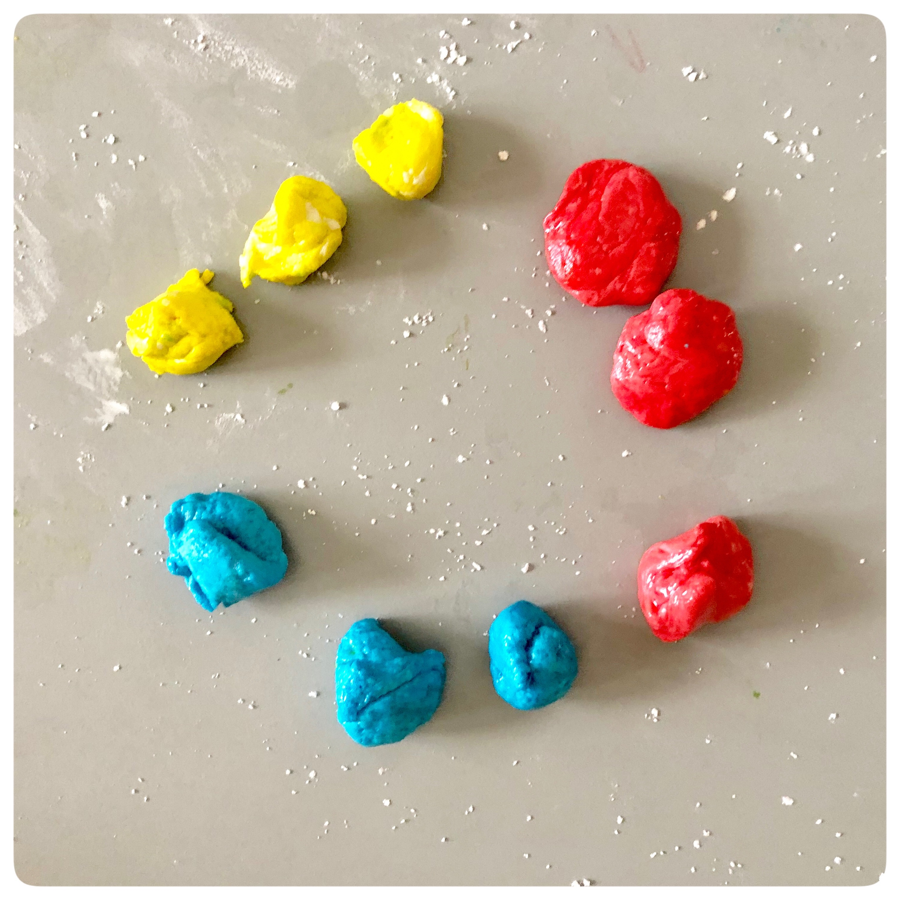 Edible Playdough: Creating interactive sensory activity to learn about Primary and Secondary colors