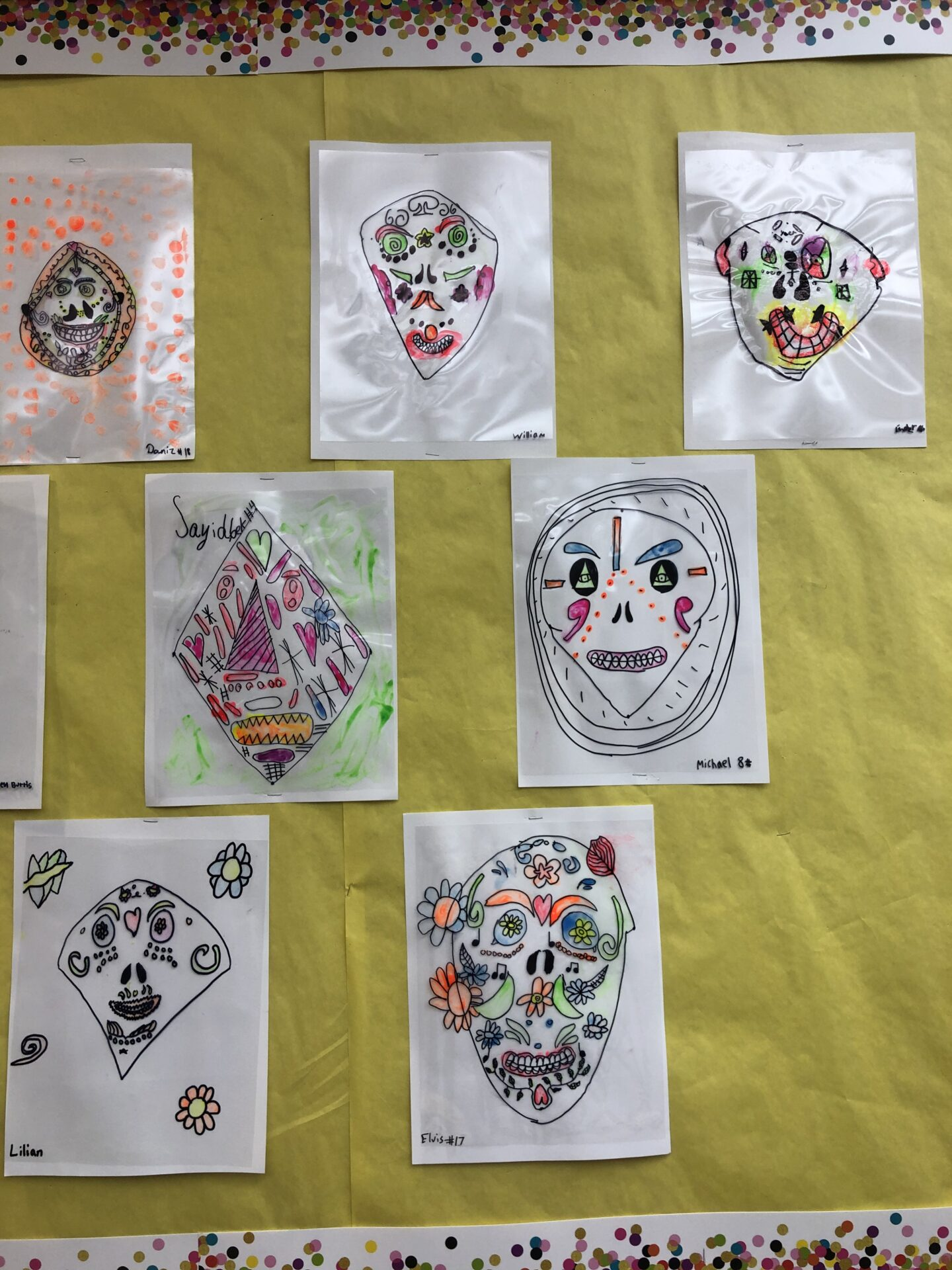 Frida Kahlo inspired Reserve Sugar Skulls created by students fro Grade 5.  Follow @How2playtoday for more exciting activites