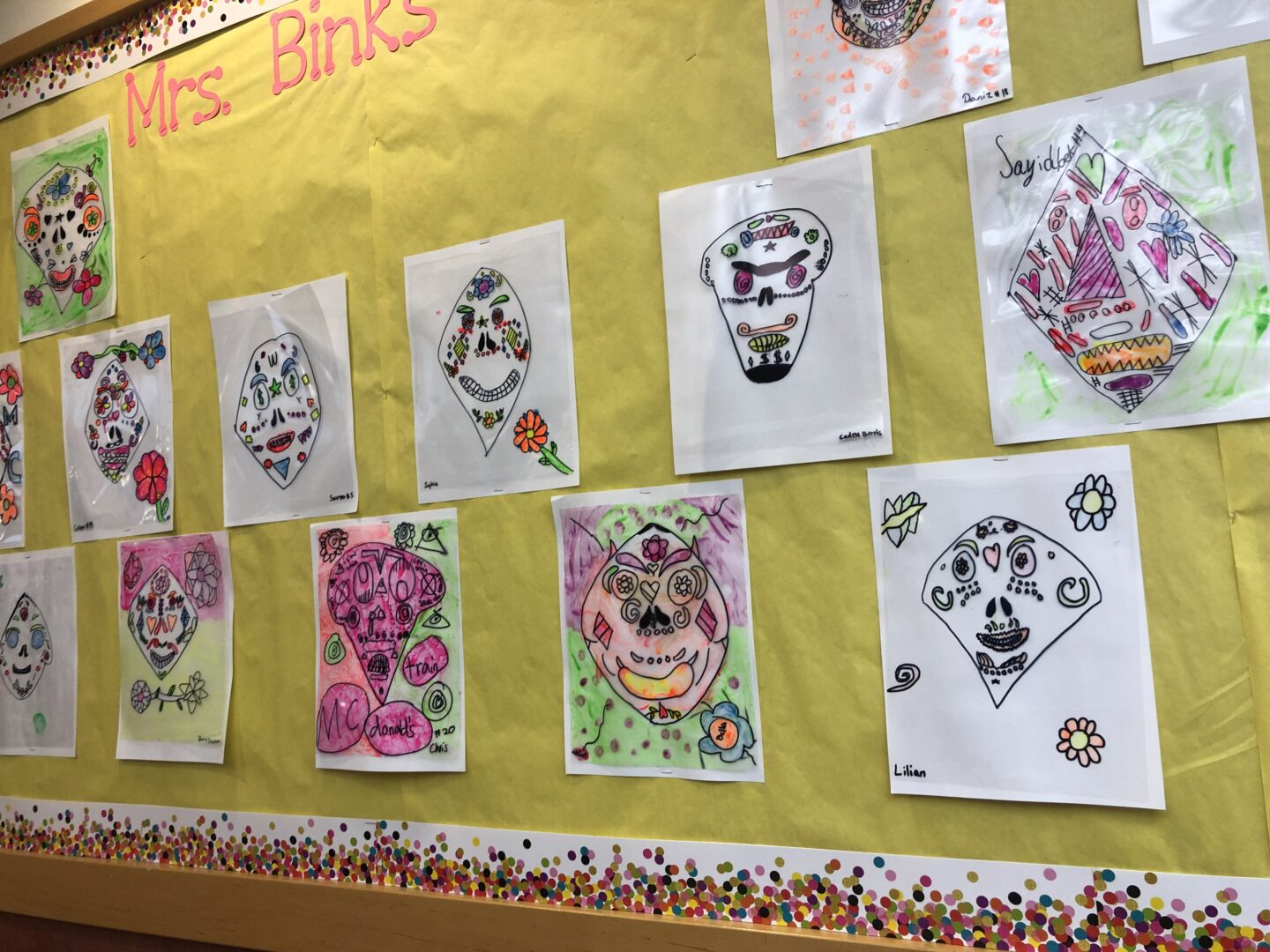 Frida Kahlo inspired Reserve Sugar Skulls created by students from Grade 5. Follow @How2playtoday for more exciting activities.