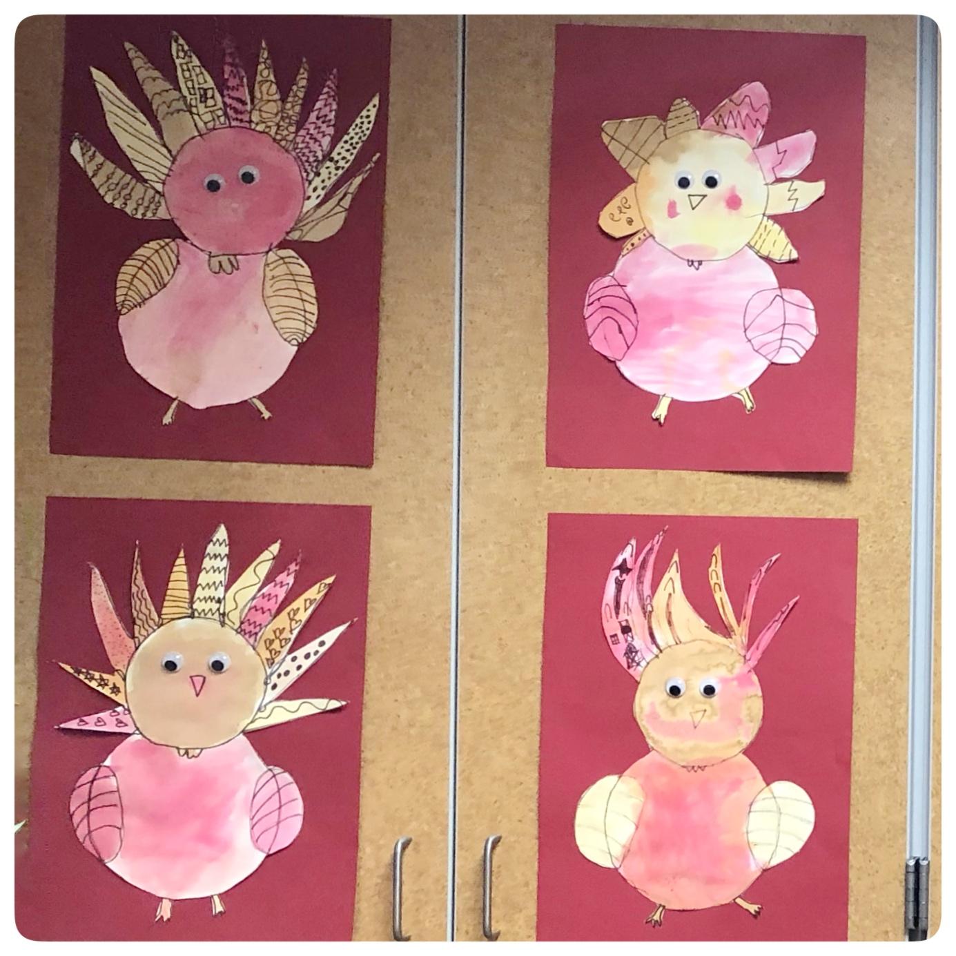 Wild Turkeys created by First Graders