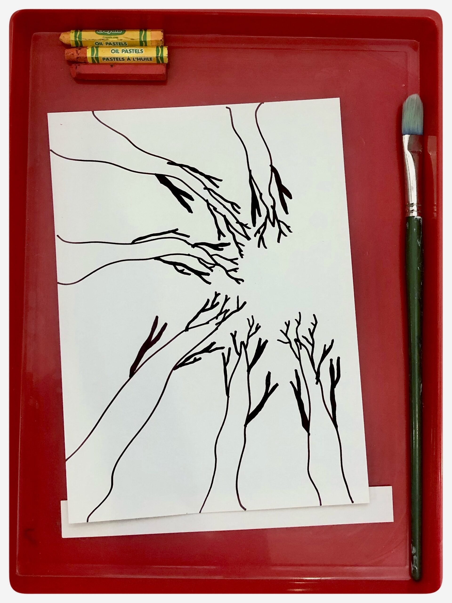 Creating ways to explore Autumn while learning about Perspective Drawing {giving a three-dimensional feeling to a flat image}