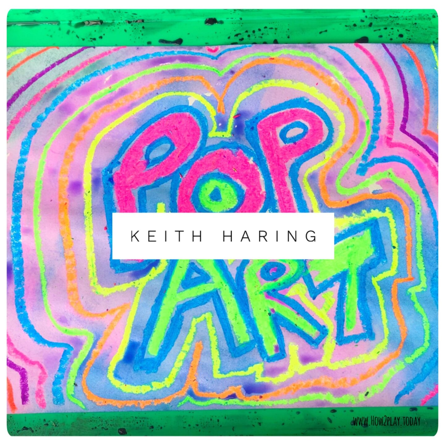 Keith Haring, a famous artist, is primarily known for solid, bold lines with vibrant colors.  His vibrant artwork tells of friendship, fun, and acceptance. Today we're creating interactive ways to think about Pop Art while learning about Keith Haring