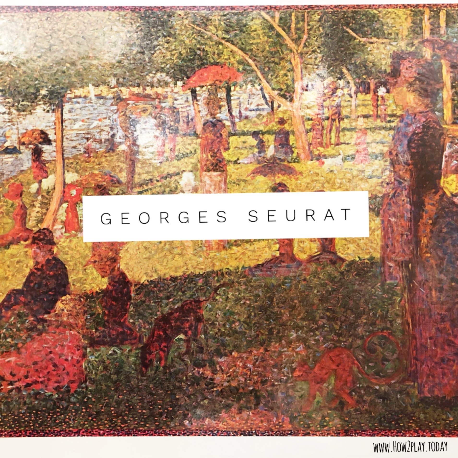 Creating interactive ways to think about Pointillism while learning about Georges Seurat
