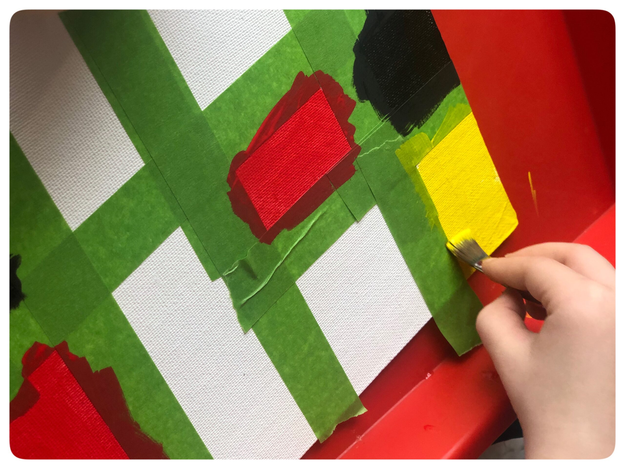 Creating ways to think about abstract art while learning about Piet Mondrian