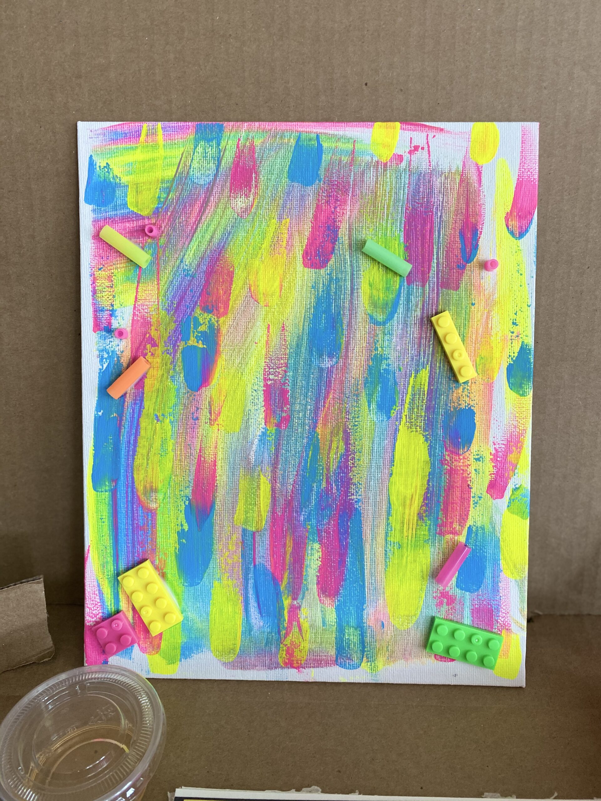 Abstract Canvas Art: creating process art projects that even glow in the blacklight.