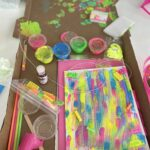 Neon Explosion Summer Camp: What's better than painting? Painting with neon colors and playing with blacklights! We love to create simple yet exciting art and play activities for children that gets them thinking And creating outside of the box.