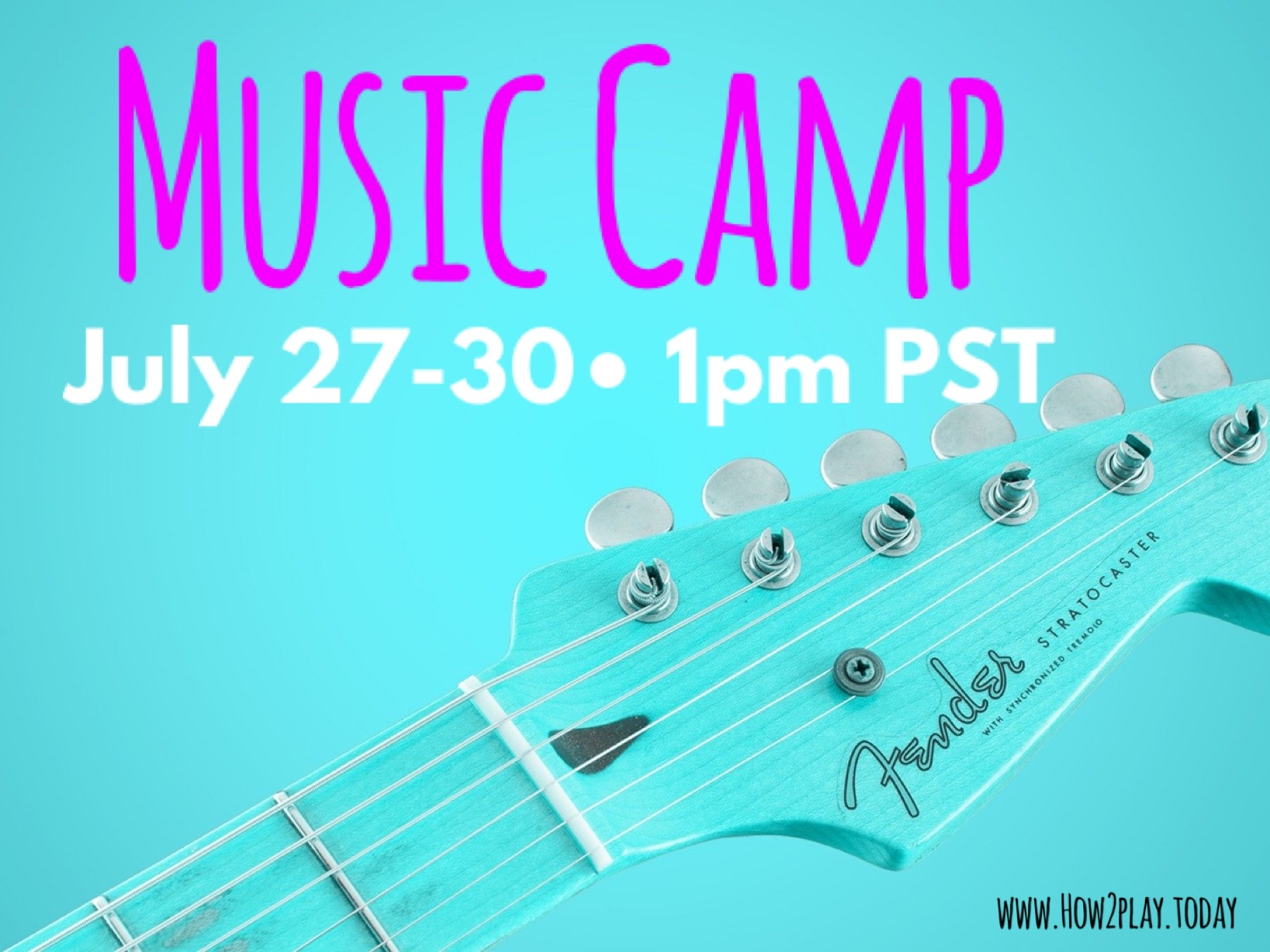 Music Camp: Ready to explore famous composers, decorate your own guitar, and our very own mini talent show where everyone can show off something they love doing.