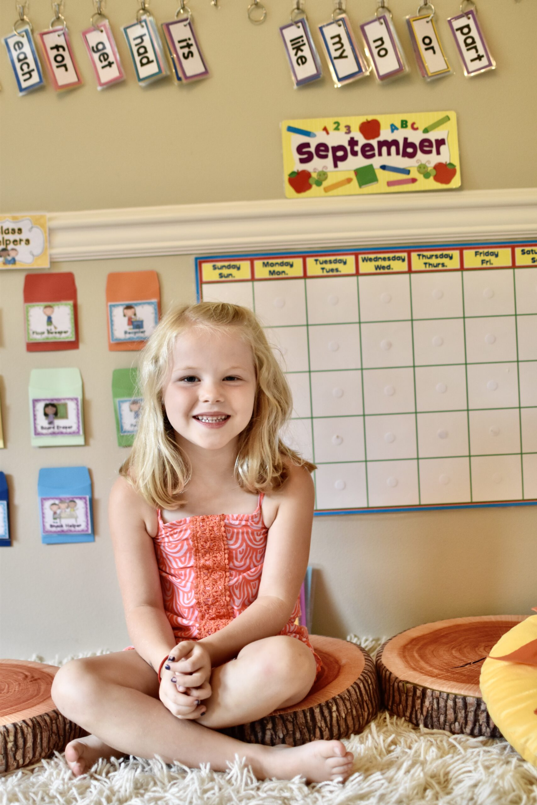Homeschool circle time set up. With all students schooling from home, here is a quick tutorial on how to setup a great educational space.
