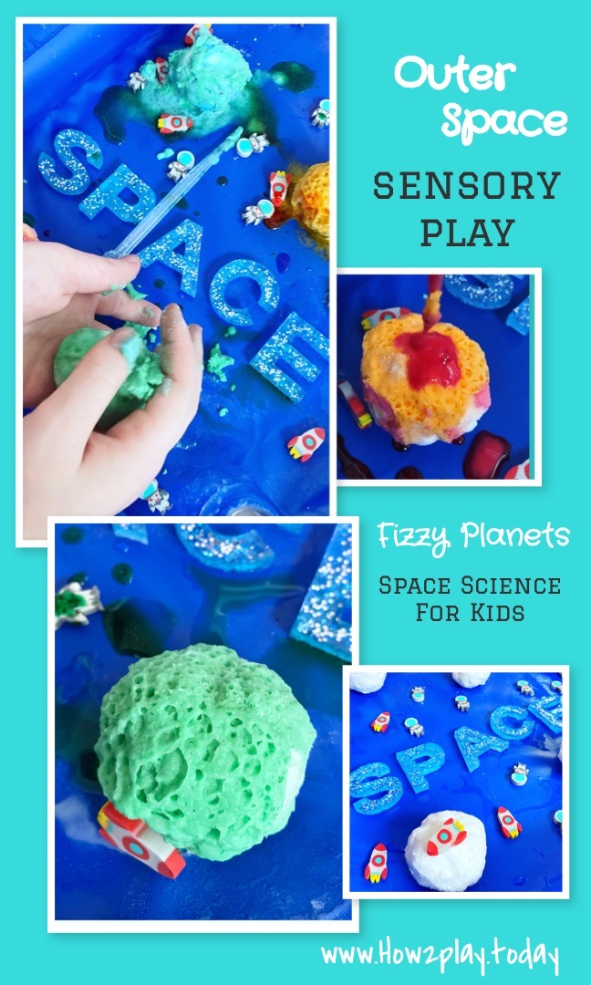 """""""Come look at what I just exploded!"""" Outer Space science for kids. sensory play"""